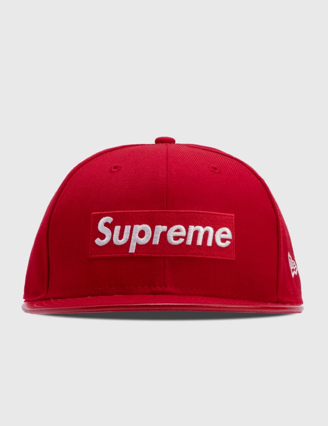 Supreme Supreme X New Era With Leather Cap Red Men