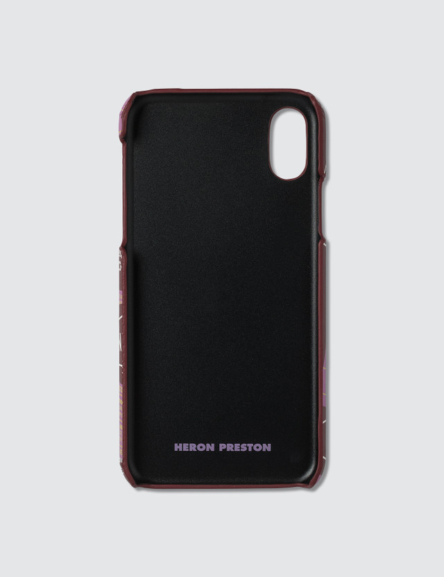 Heron Preston Tape iPhone X Cover Red Pink Unisex
