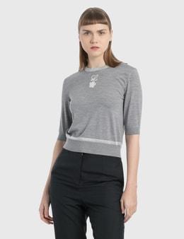 Loewe Flower Lurex Cropped Sweater