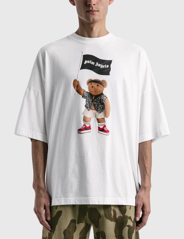 Palm Angels Pirate Bear Loose T-shirt White Men