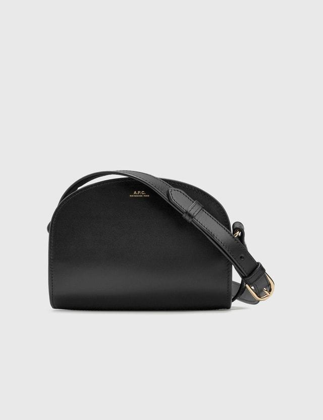 A.P.C. Mini Half Moon Bag Lzz Black Women