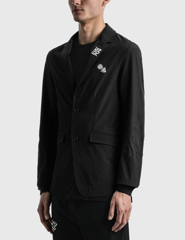 Kinjaz Vanquish X Kinjaz Tailored Jacket Black X White(embroidery) Men