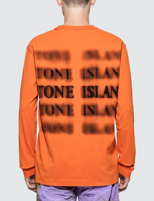 Stone Island Graphic Five Long Sleeve T-Shirt
