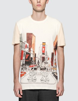 Lanvin Fabric Mix Babar NY Print T-Shirt
