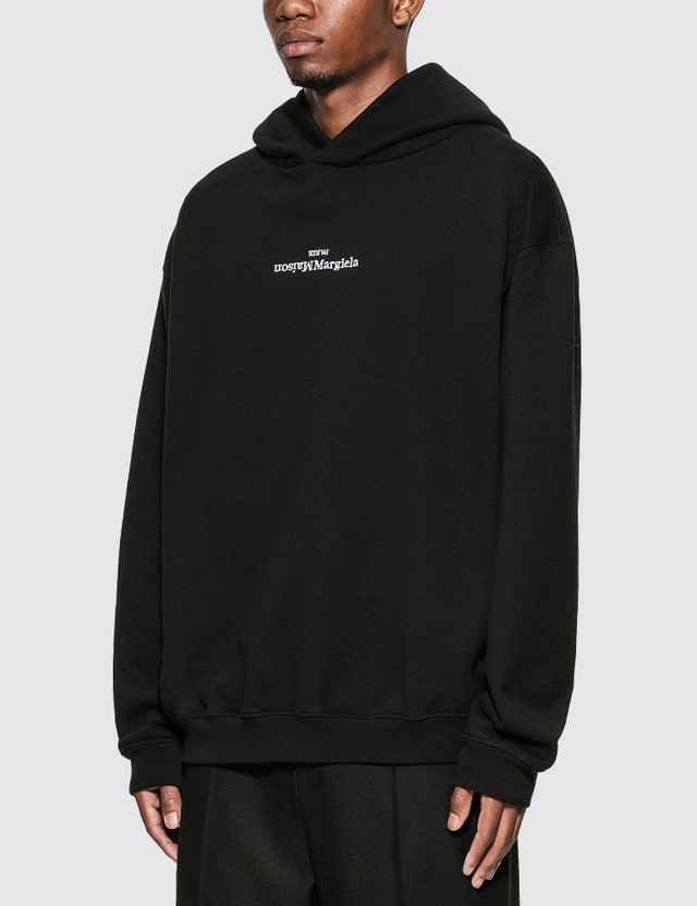 Maison Margiela Reversed Logo Hoodie Black Men
