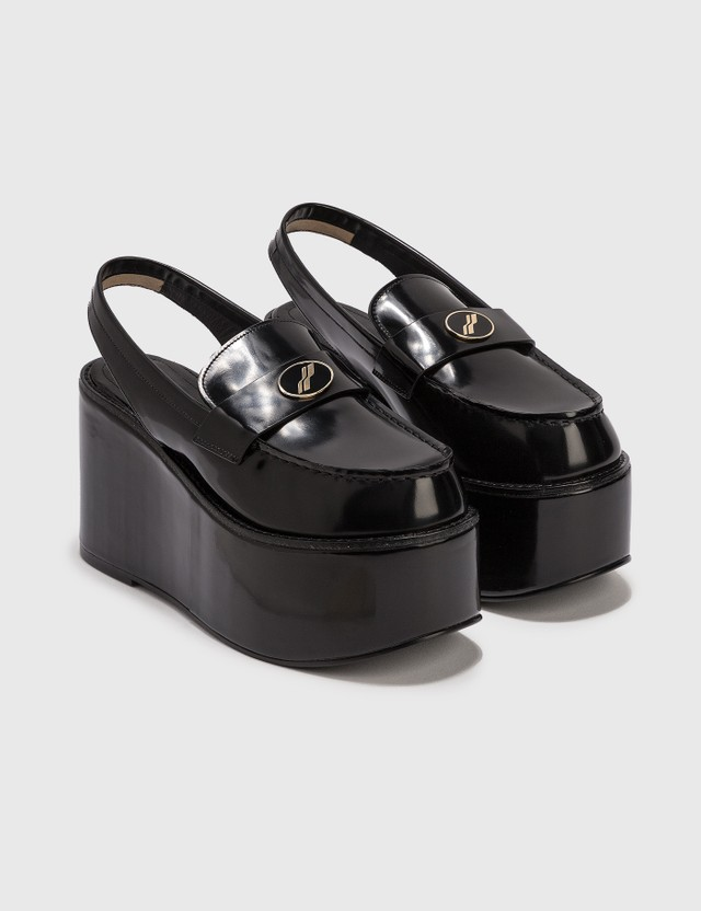 We11done Platform Loafer Slingback Black Women