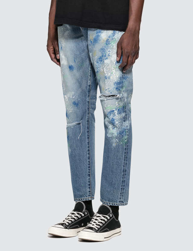 Denim By Vanquish & Fragment Paint Tapered Denim Jeans