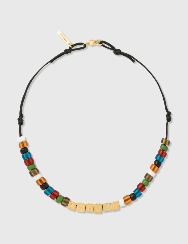 Ambush Letter-Block & Beads Necklace