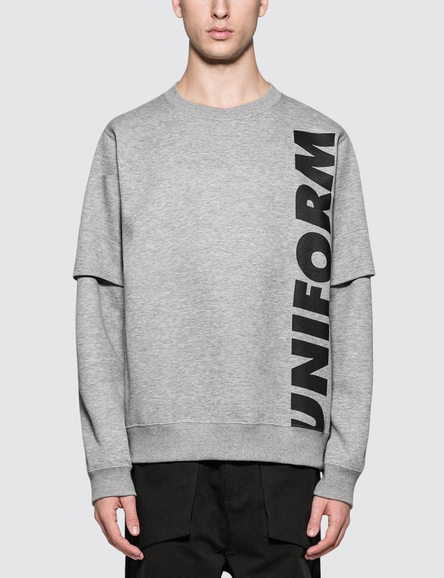 uniform experiment Action Sleeve Big Crew Neck