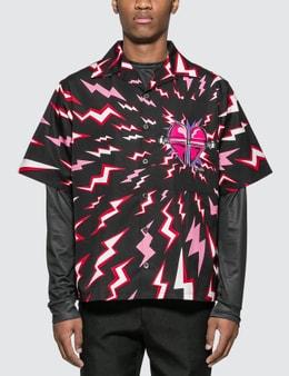 Prada Thunder Print Bowling Shirt Picture