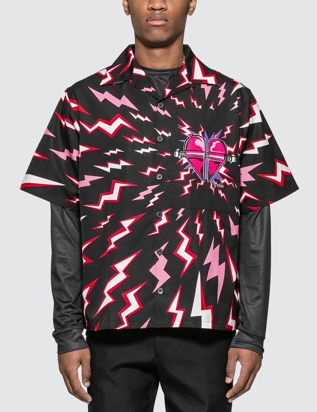Prada Thunder Print Bowling Shirt