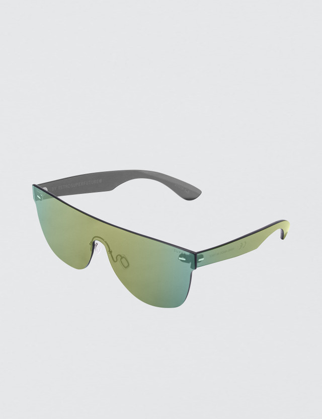 Super By Retrosuperfuture Tuttolente Flat Top Petrol Sunglasses