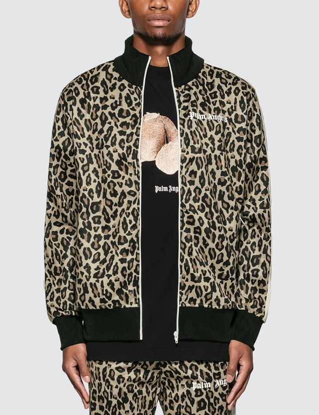 Palm Angels Leopard Track Jacket