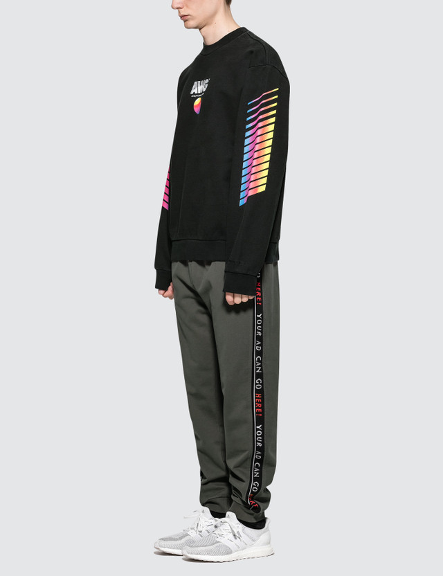Alexander Wang AWG Faded Black Sweatshirt