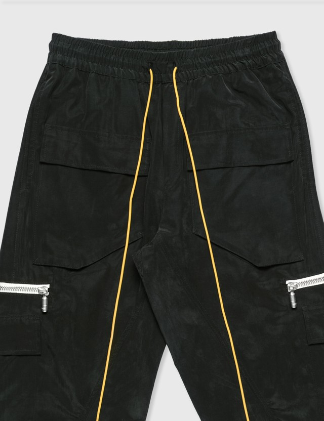 Rhude Cupro Cargo Pants Black Men