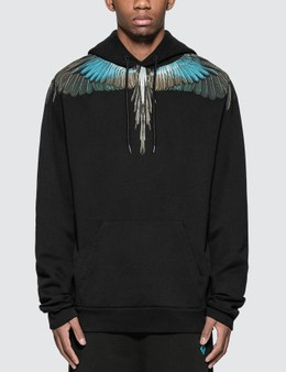 Marcelo Burlon Turquoise Wings Hoodie