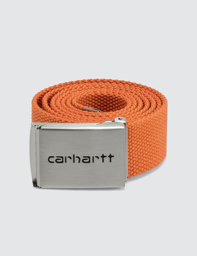 Carhartt Work In Progress Clip Belt Chrome