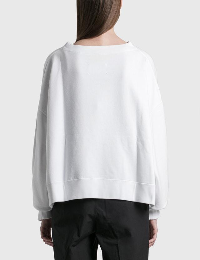Maison Margiela Comma Oversized Sweatshirt Optic White Women