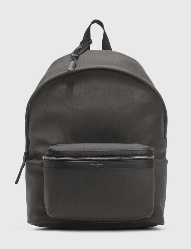 Saint Laurent City Backpack Storm/nero/ne/ne Men