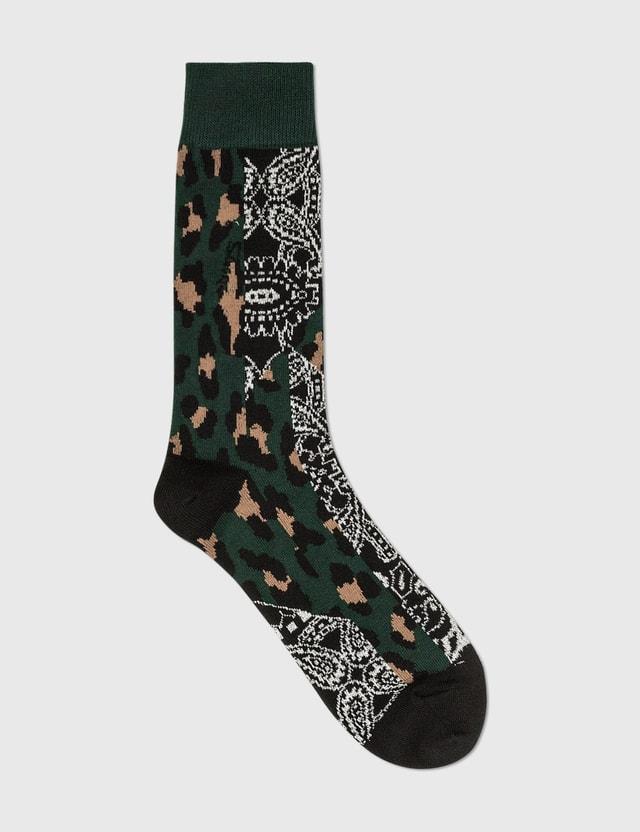 Sacai Socks Black X Green Men