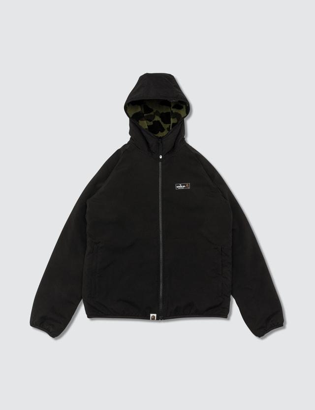 BAPE Reversible Fleece/nylon Camo Zip-up Jacket