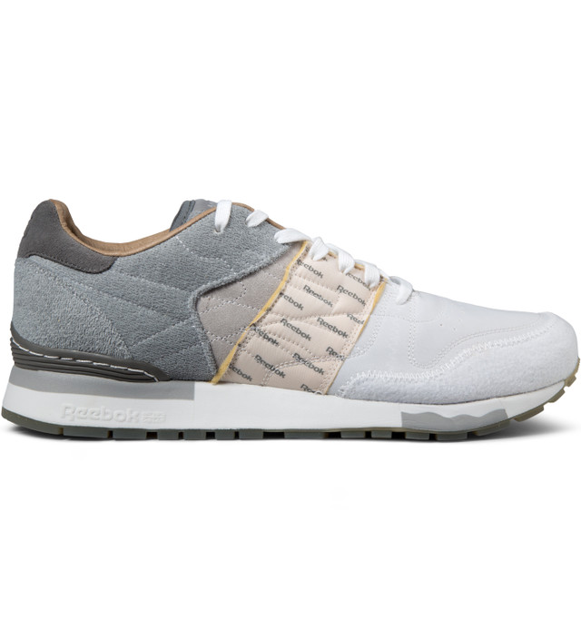 Reebok Garbstore x Reebok Flat Grey/White/Steel CL Leather 6000 Shoes
