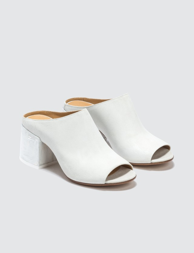 MM6 Maison Margiela Painted Heel Leather Mule