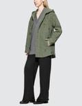 Alexander Wang.T Pajama Utility Hooded Oversized Shirt Cadet Women