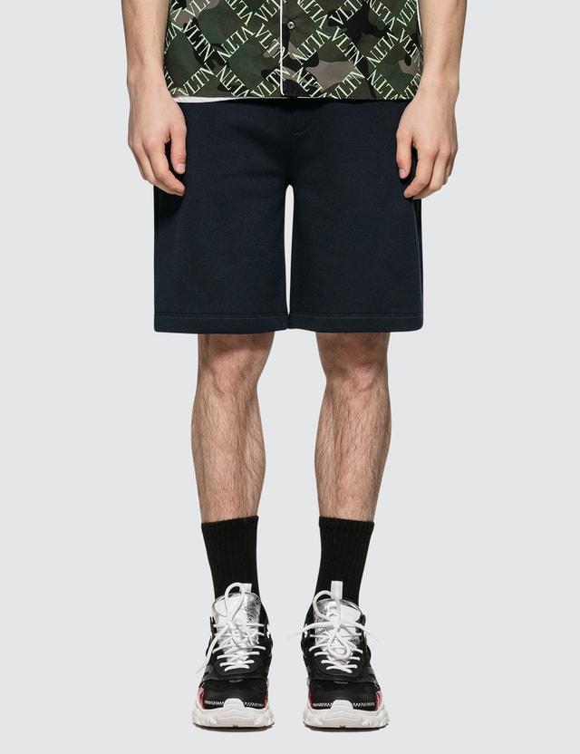 Valentino Rock Stud Jersey Shorts