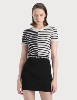 Alexander Wang.T Contrast Stripe Boy T-Shirt