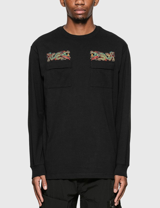Maharishi Liberty Dragon Long Sleeve T-Shirt =e23 Men