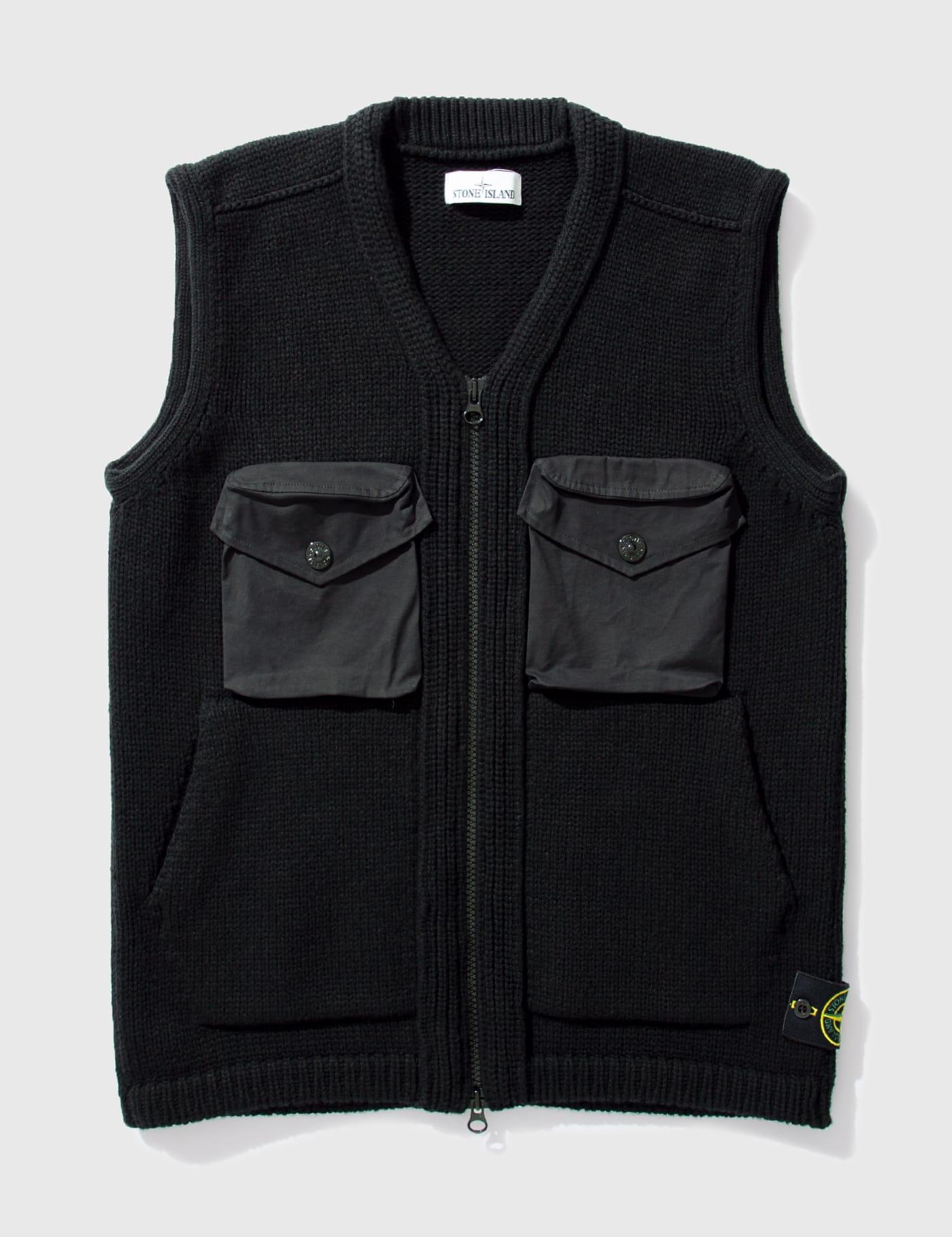 스톤 아일랜드 니트 조끼 Stone Island Nylon Pocket Knitted Vest