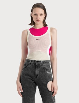 Off-White Swiss Cheese Tank Top