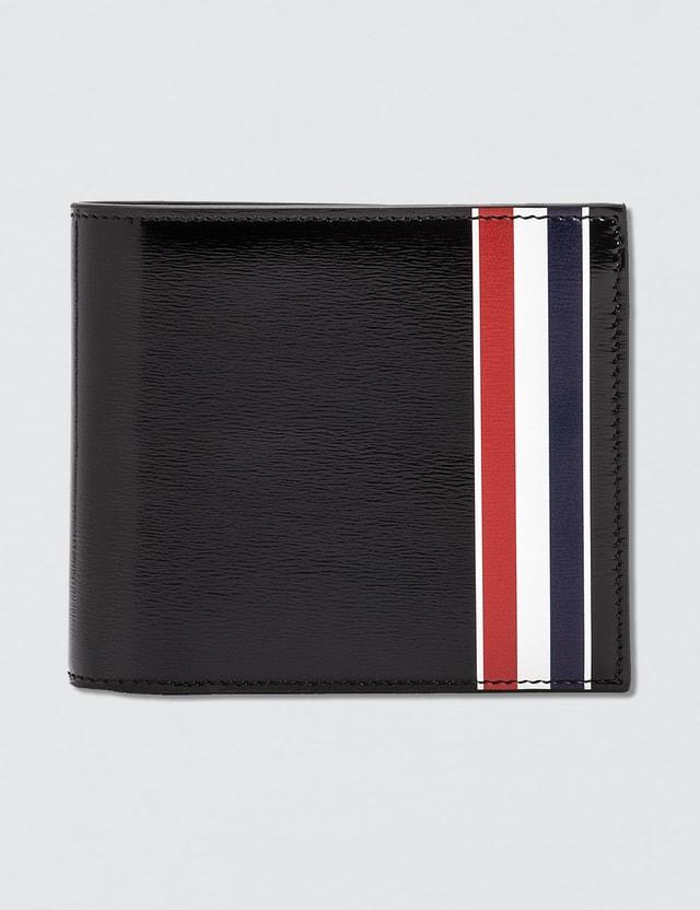 00b840297d83 Thom Browne - Calf Leather Billfold Wallet with RWB Printed Stripe