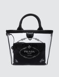 Prada Logo Pvc Shopping Bag Picture