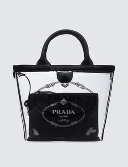 Prada Logo Pvc Shopping Bag Picture