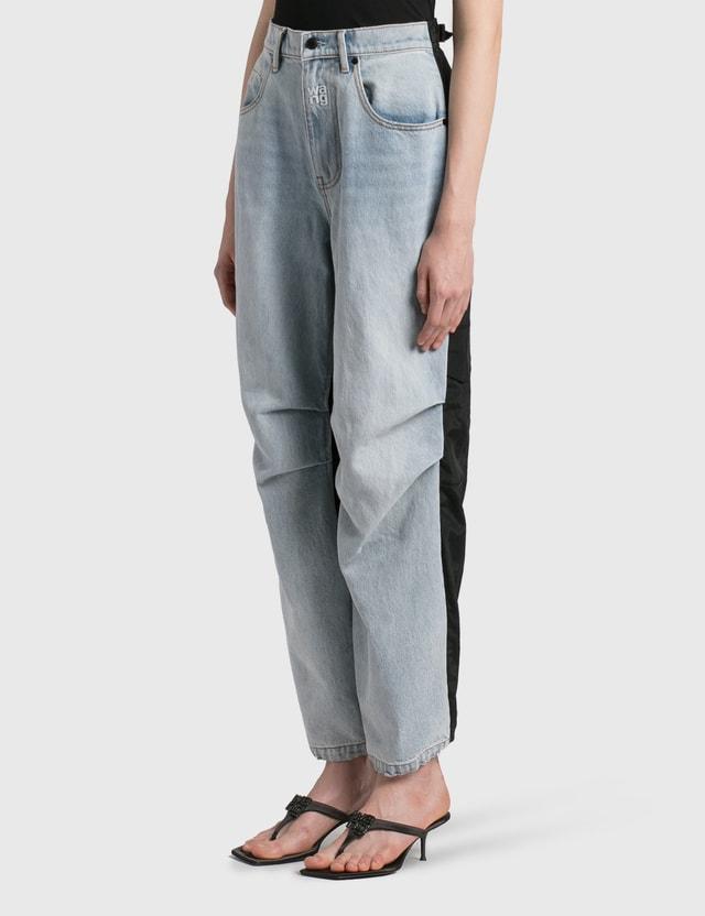 Alexander Wang.T Pack Mix Hybrid Jeans Bleach/black Women