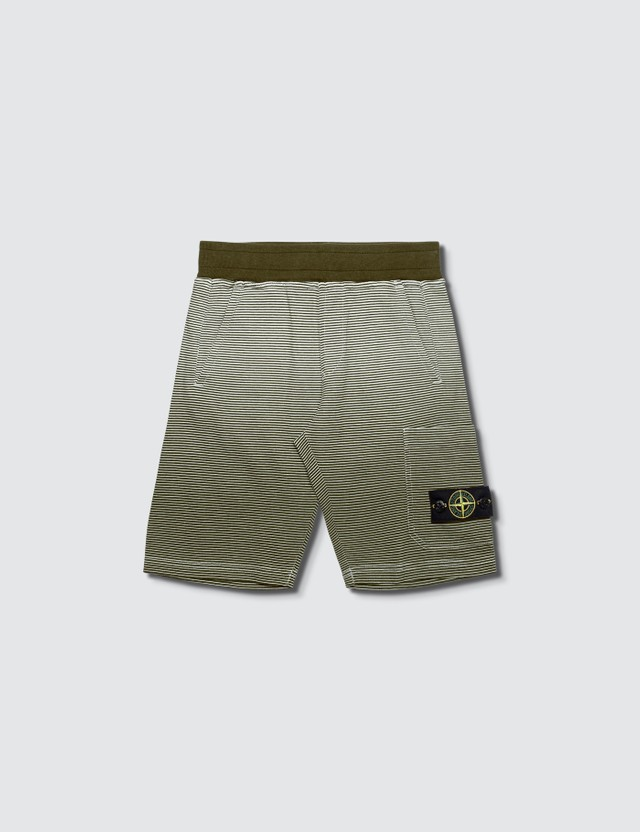 Stone Island Shorts (Toddler) Military Green Kids