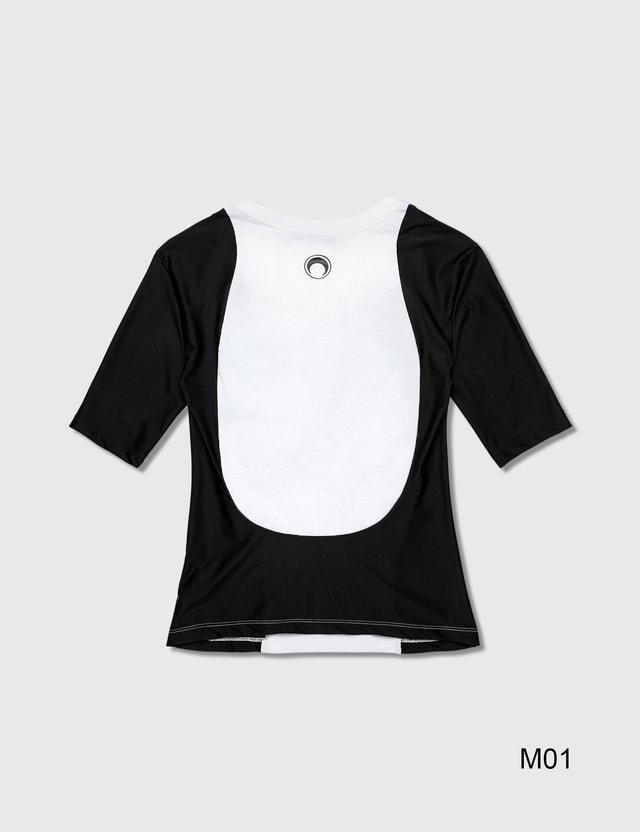 Marine Serre Upcycled Jersey T-Shirt 80 White Women