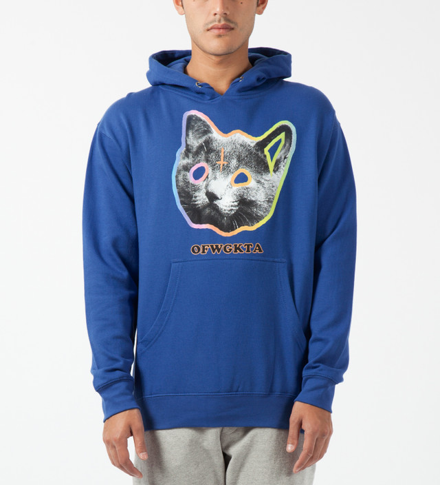9a56777335999a Odd Future - Royal Blue OFWGKTA Tron Cat Hoodie