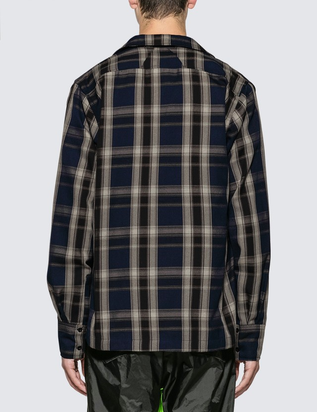 Rhude Plaid Button-Up Twill Overshirt