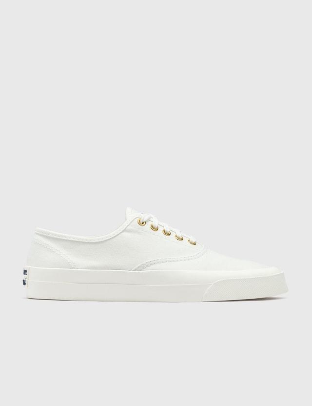Maison Kitsune Canvas Laced Sneaker White Women