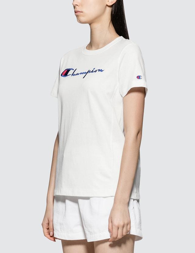 Champion Reverse Weave Logo Script Logo Short Sleeve T-shirt