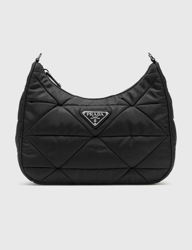 Prada Quilted Crossbody With Small Pouch Nero Women