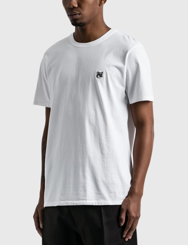 Maison Kitsune Grey Fox Head Patch Classic T-shirt White Men