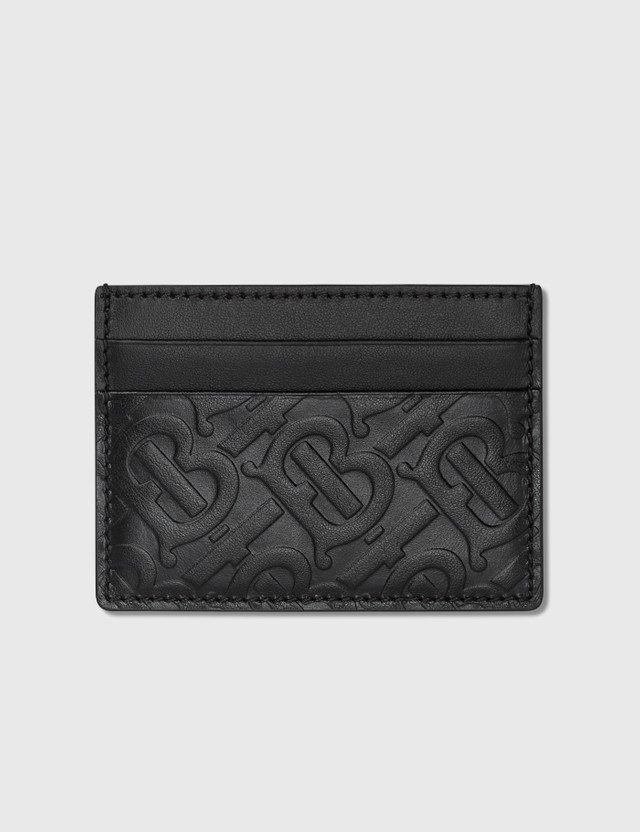 Burberry Monogram Leather Card Case Black Men