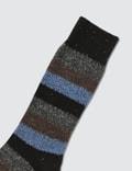 Tabio Heterogeneous Material Border Socks