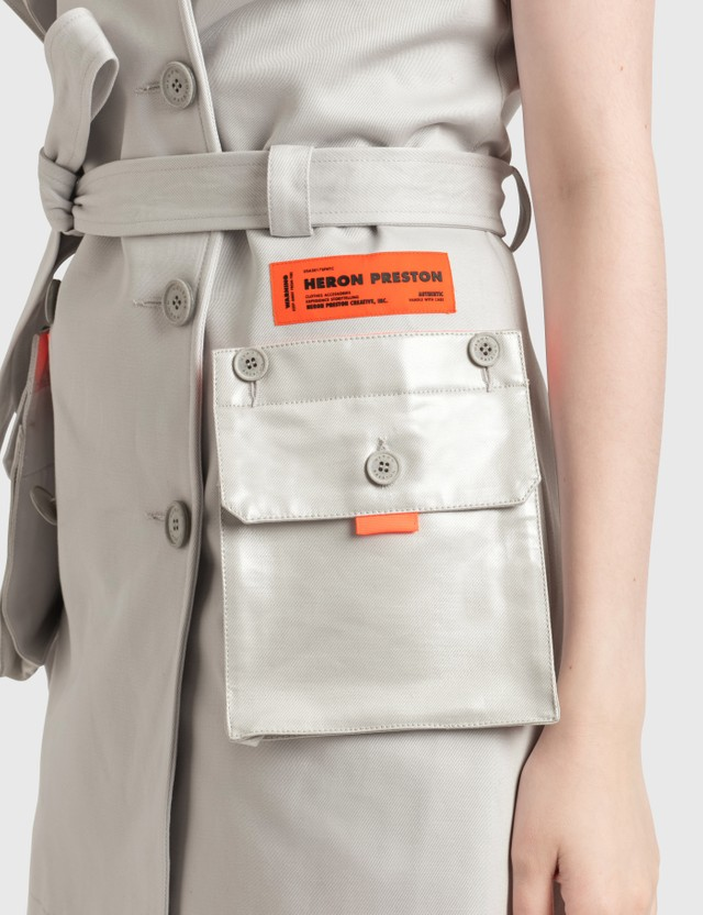 Heron Preston Trench Dress Ice Grey No Color Women