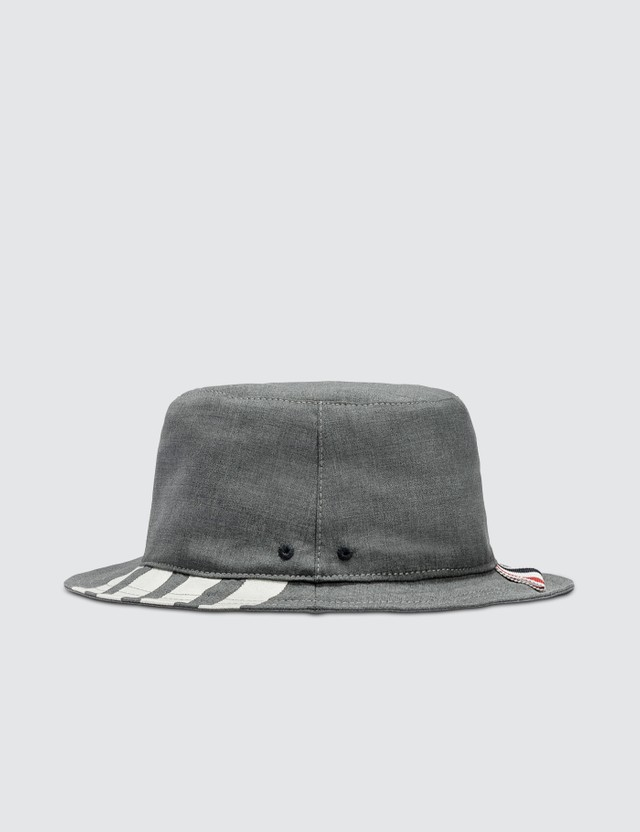 Thom Browne Classic 4-Bar Bucket Hat