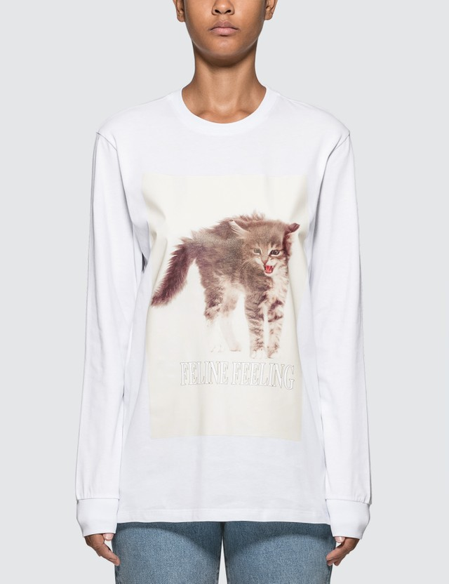 MSGM Cat Printed Long Sleeve T-shirt